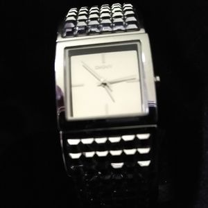 DKNY Silver Squares Watch